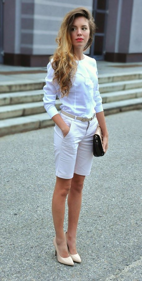 All White Outfit Idea