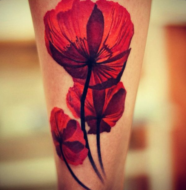 Beautiful Poppy Tattoos