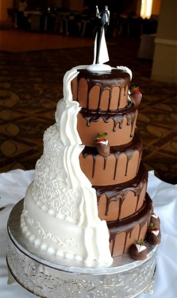 Chocolate and vanilla cake