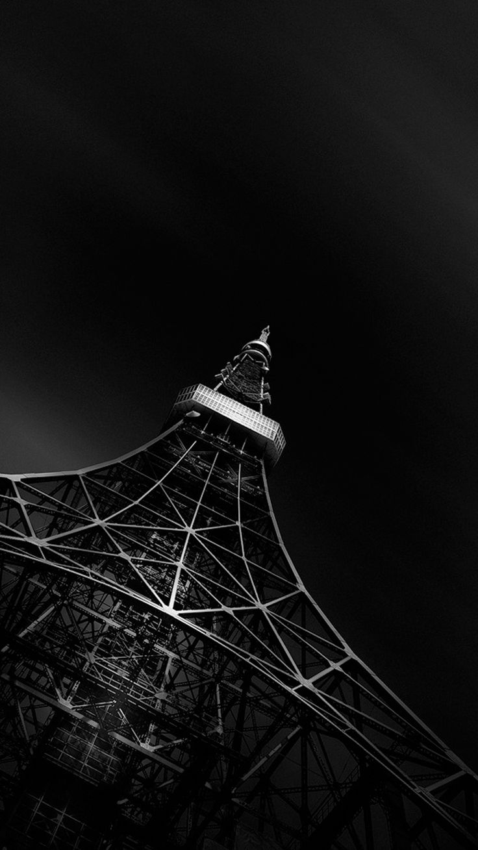 Fading Black Eiffel Tower iPhone 6 Wallpaper