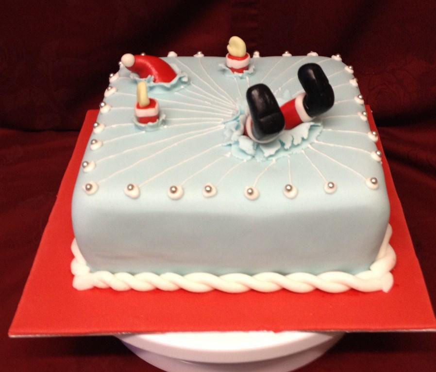 Funny Santa Christmas cake