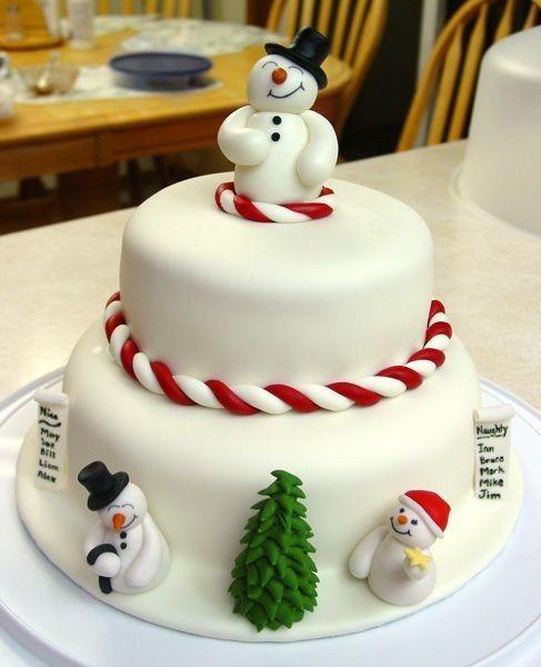 Cake And Decoration Making : 25 Easy Christmas Cake Decorating Ideas