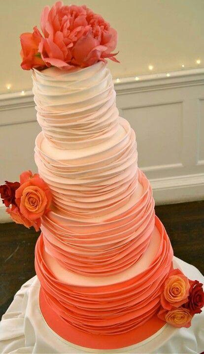 Orange Wedding Cake Idea
