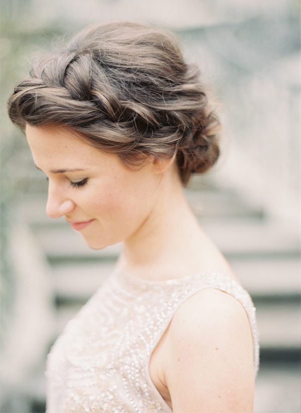 The crown braid chignon