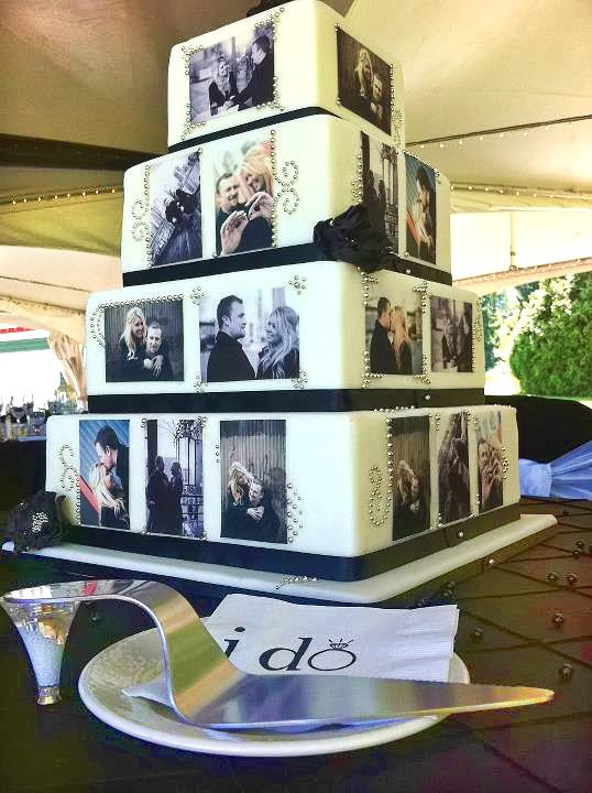 Unique Wedding Cake Designs inspired from bride and groom pictures