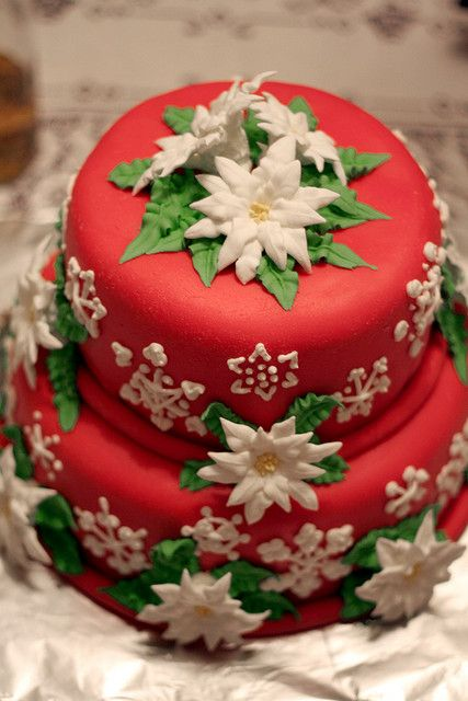 red Christmas Cake