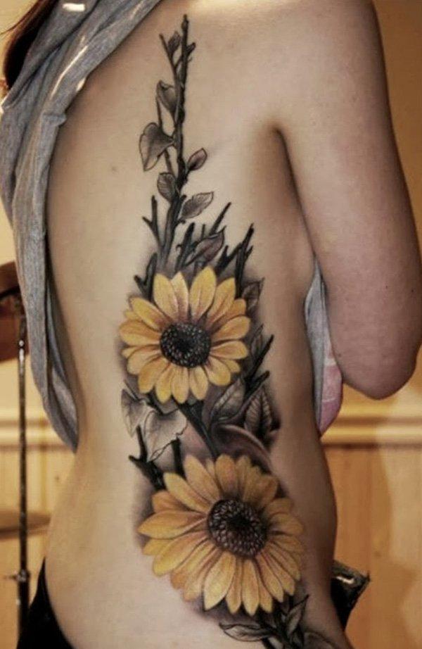 sunflower-tattoos-for-women