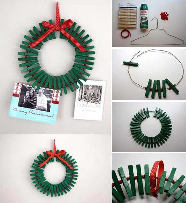 Clothespin-Wreath
