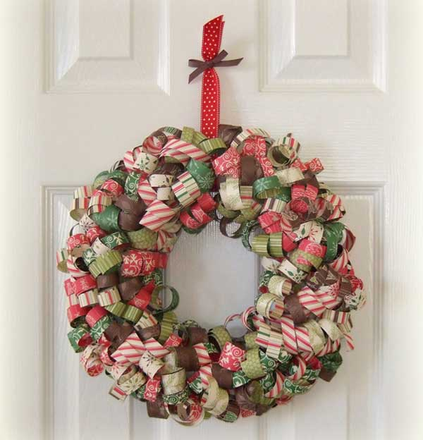Curly-Paper-Christmas-Wreath