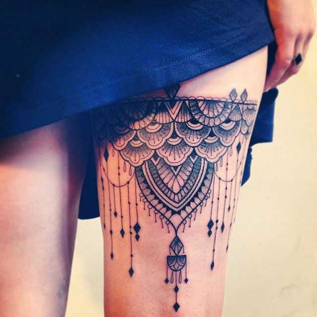 Feminine Lace Tattoo Designs