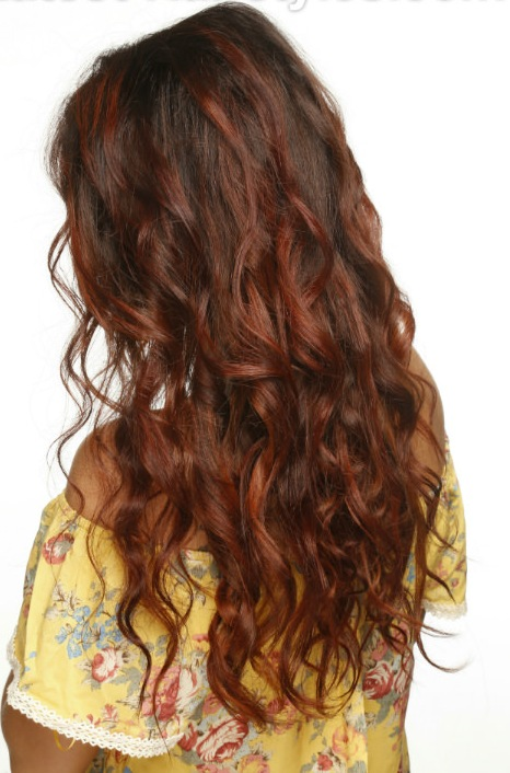 Long-Ombre-Hairstyle-with-Dark-Brown-and-Warm-Caramel-Brown-Back