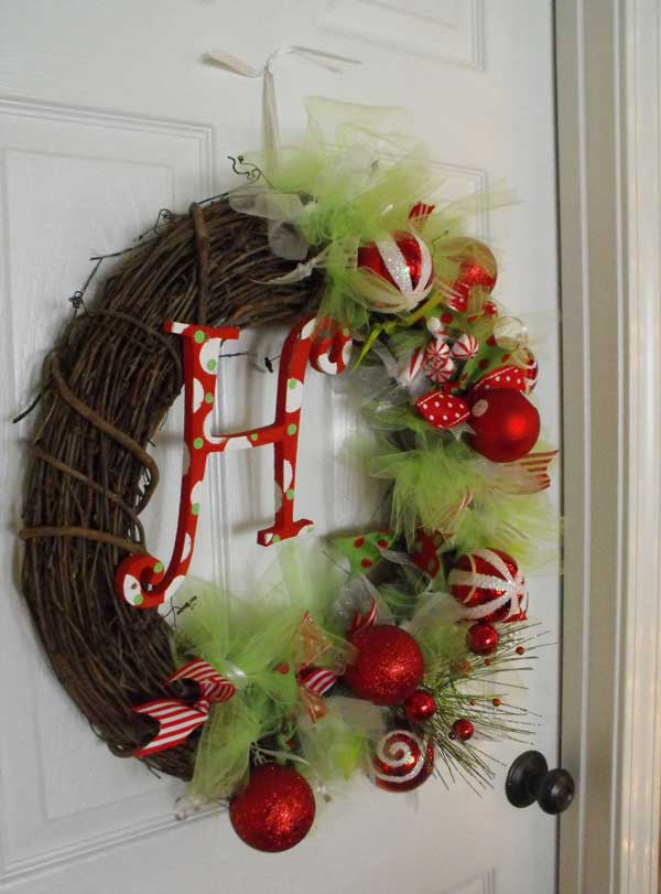 Monogram-Christmas-Wreath