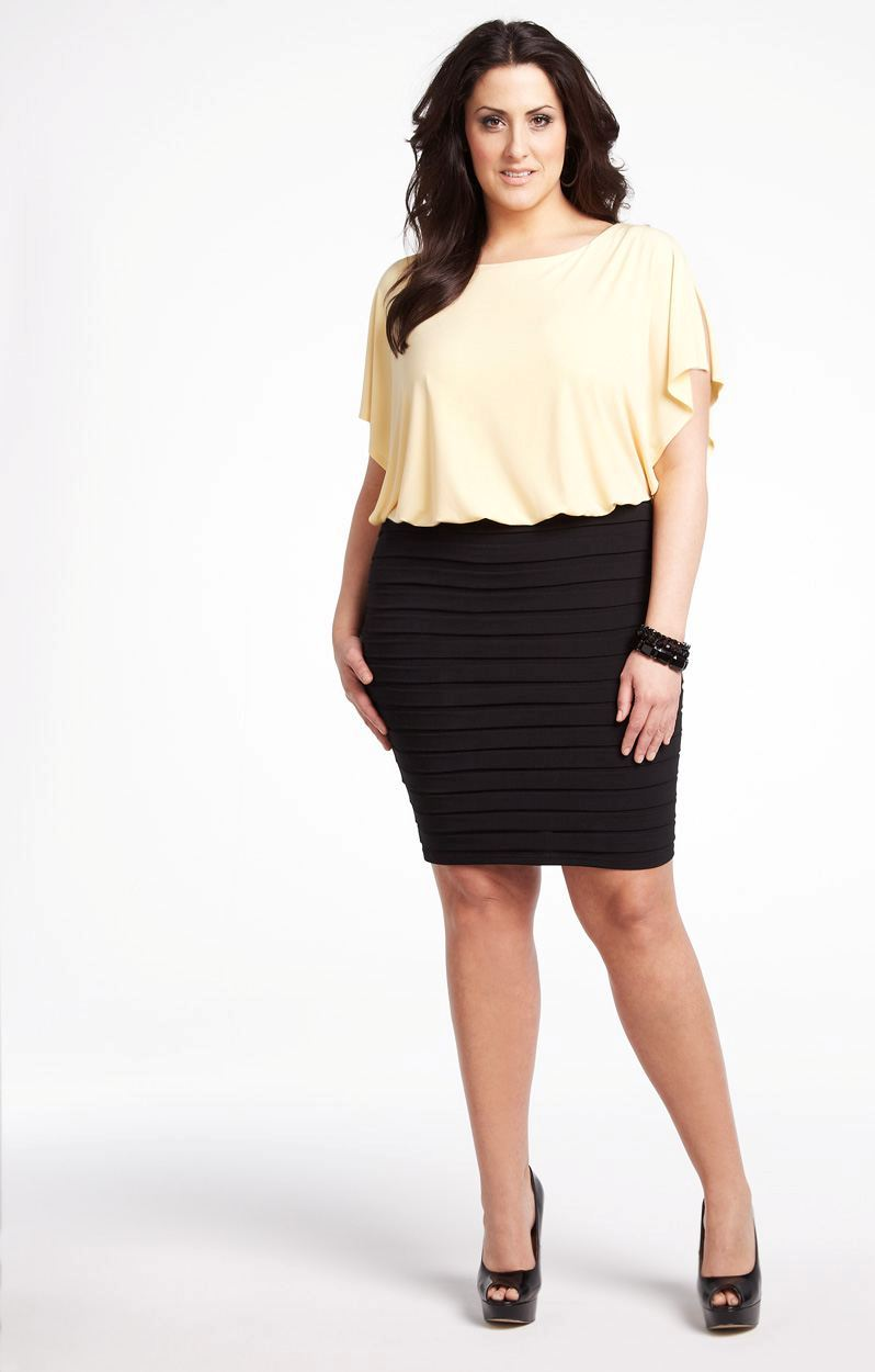 Plus-Size-two-tone-dress-in-Maize-12-1