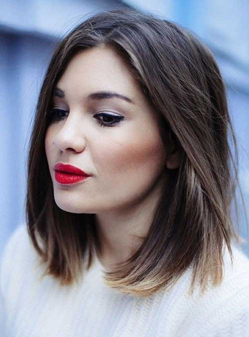 Straight Short to Medium Line Haircut for Women