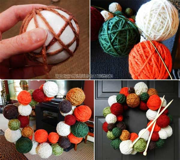 Yarn-Ball-Wreath