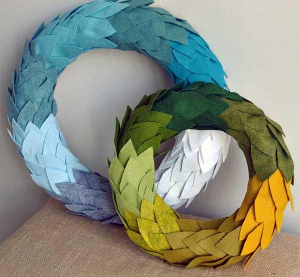felt-ombre-wreaths