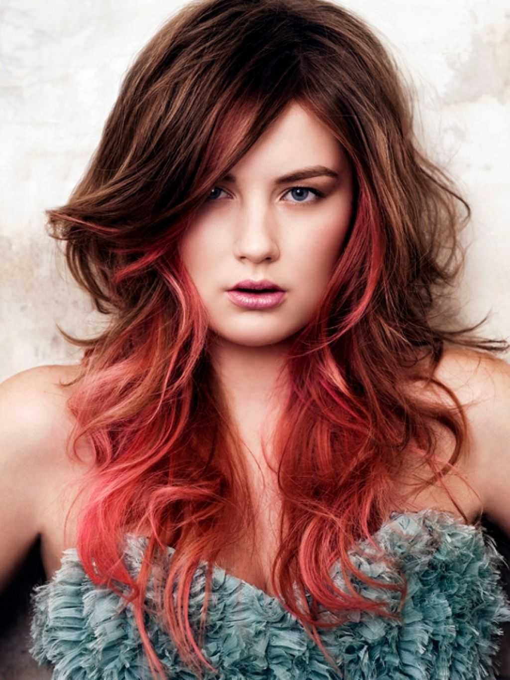 red ombre hairstyles for girls