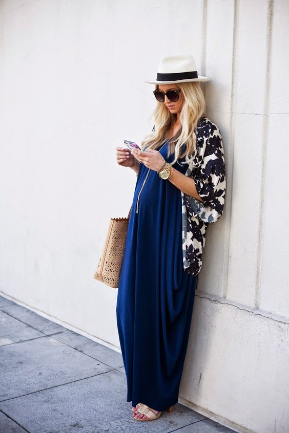 summer Maternity Maxi Dress