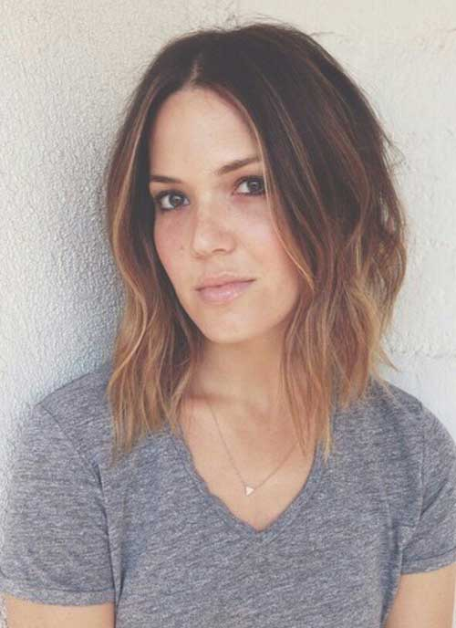 Long Inverted Bob with Ombre Hair