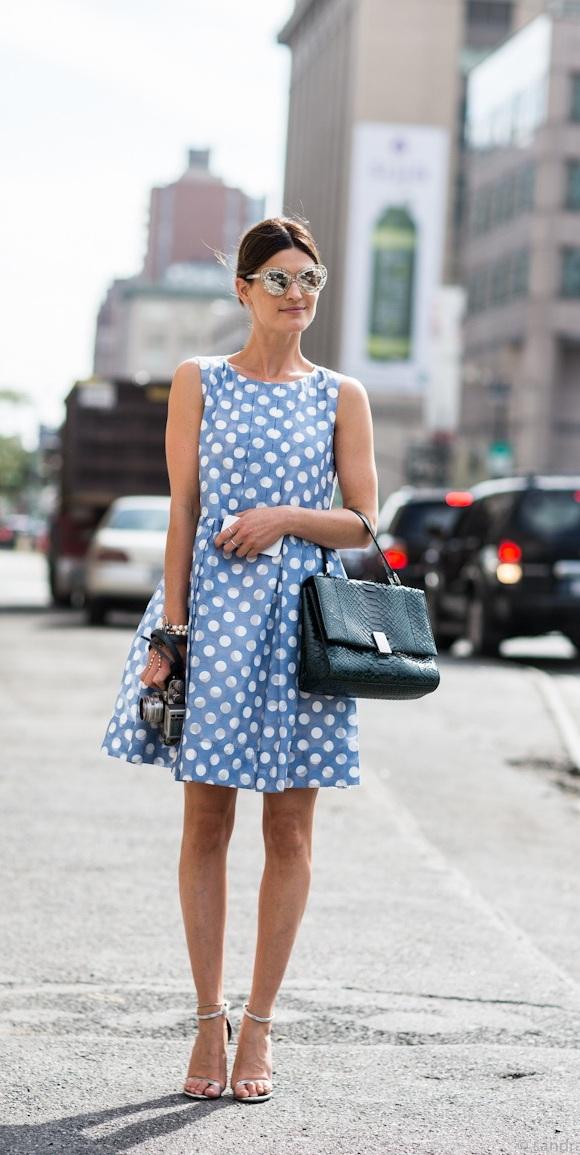2016 Polka Dot Street Style Trends
