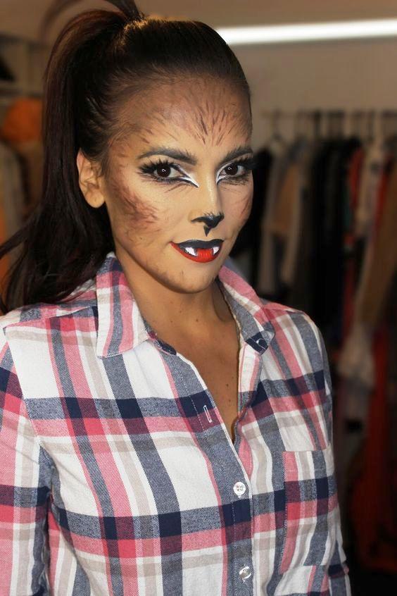 Cute-werewolf-halloween-makeup