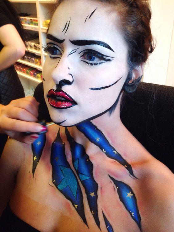 Pop Art Makeup look