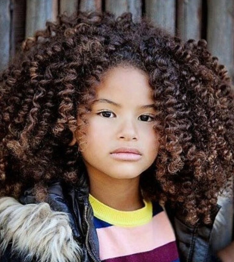1. Curly Hairstyle For Kids