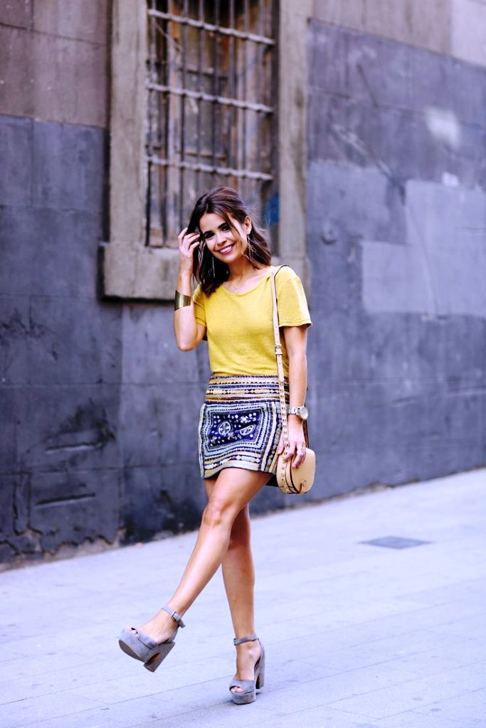 13-yellow colored outfit ideas for women