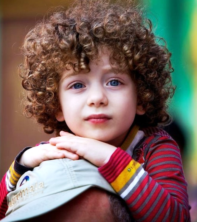 15. Curly Hairstyle For Kids