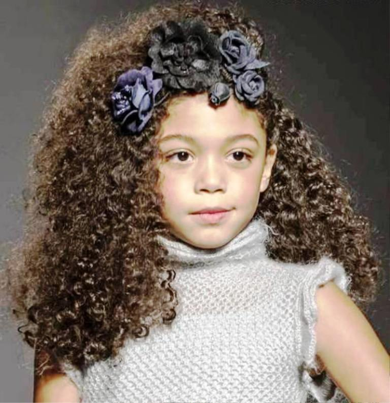 19. Curly Hairstyle For Kids