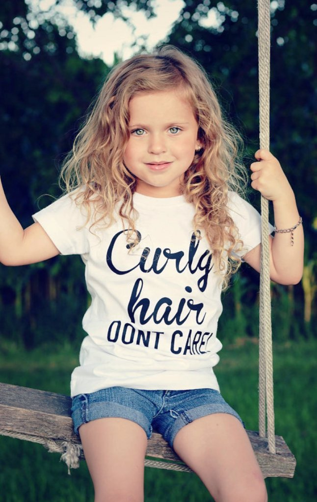 23. Curly Hairstyle For Kids