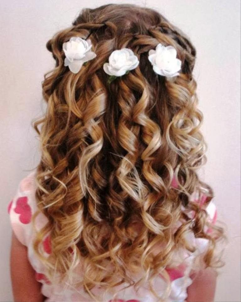 24. Curly Hairstyle For Kids