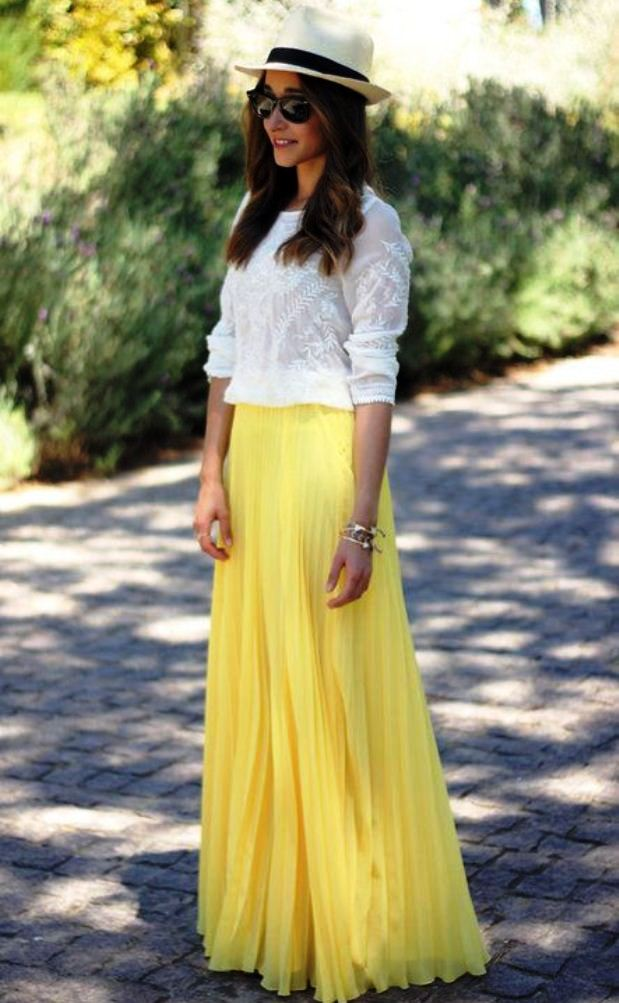 3-yellow colored outfit ideas for women