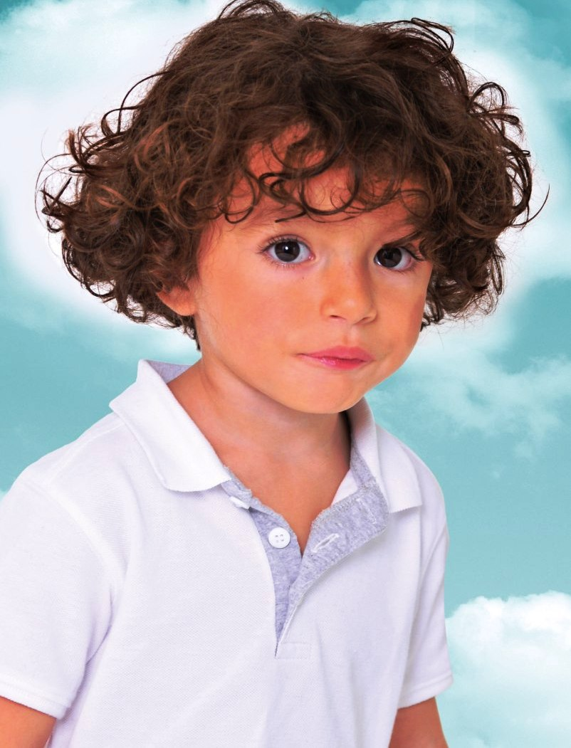 3. Curly Hairstyle For Kids