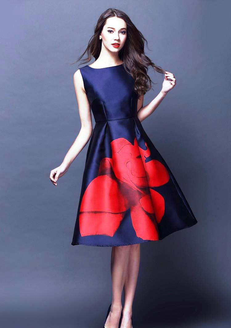 9-contrast color dress