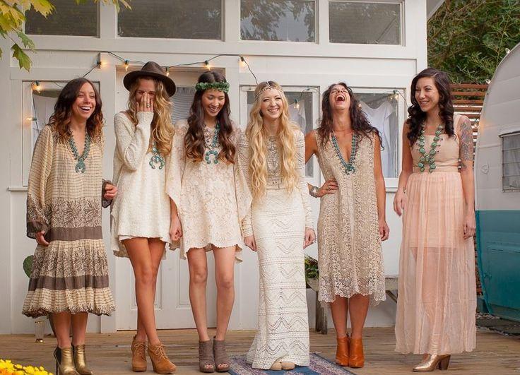 Beautiful Bohemian Bridesmaid Dresses Ideas (18)