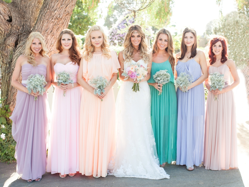Beautiful Pastel Wedding Gowns