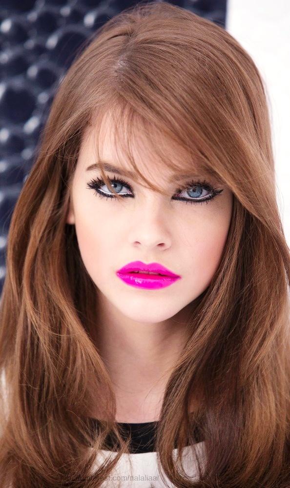 8-Glamorous pink lipstick makeup ideas