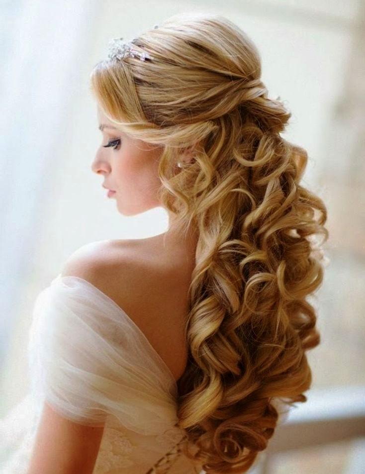 Superb 20 Elegant Half Up Half Down Curly Hairstyles Ideas Inspired Luv Hairstyles For Men Maxibearus
