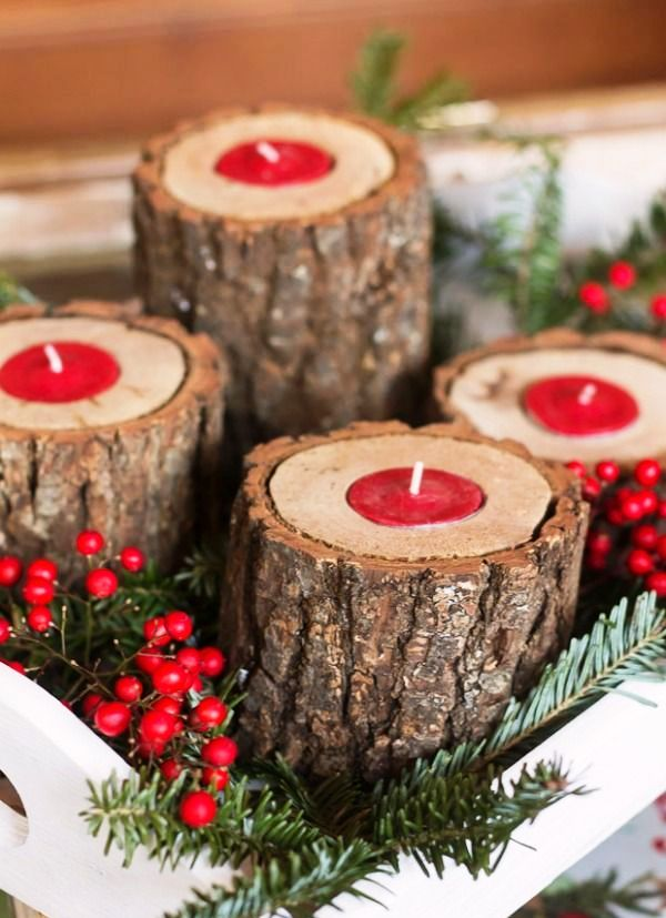 christmas candle decoration ideas - Christmas Candle Decorations