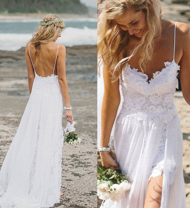 30 Awesome Beach Wedding Dresses