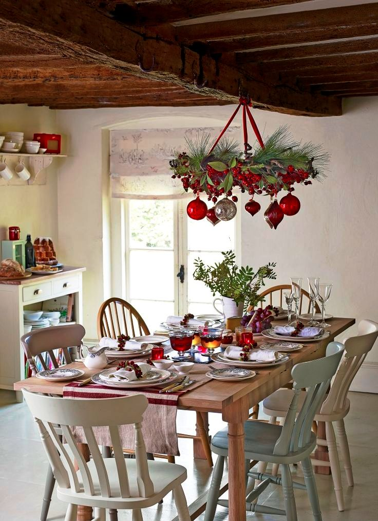 dinning-table-christmas-chandelier-ideas