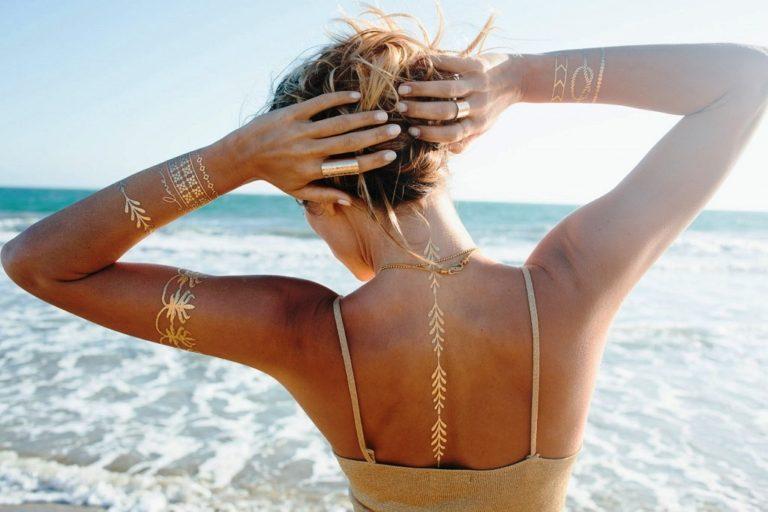20 Metallic Inspired Temporary Tattoo Ideas