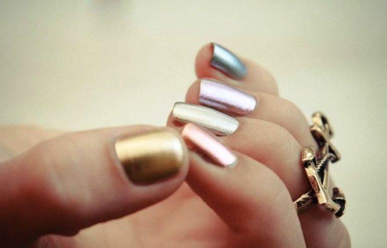15 Metallic Nail Art Ideas For Women