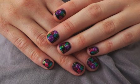 nail-design-with-contrast-in-the-dark-theme-nail-art-designs
