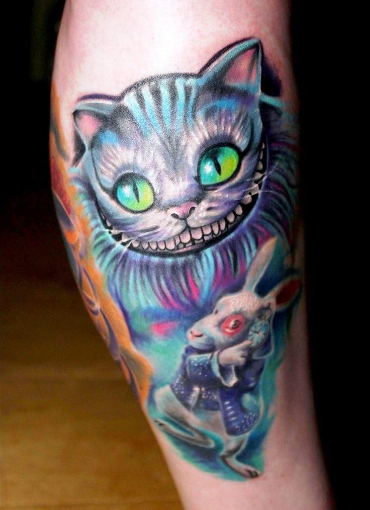 wolf-girl-tattoos-leg
