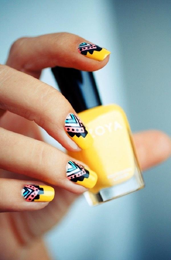 yellow-nail-art