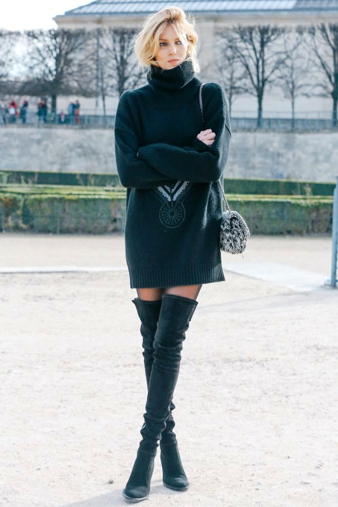 black-sweater-dress-women