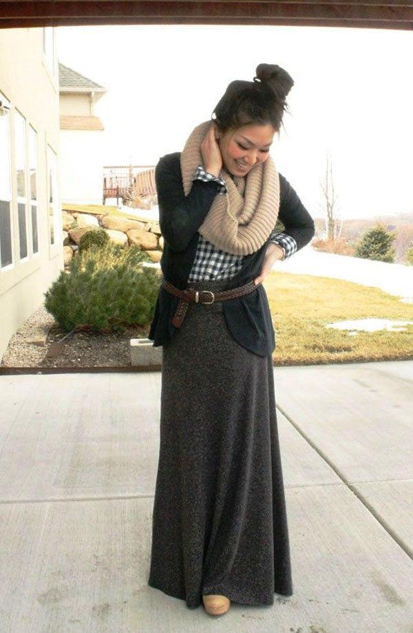 maxi-skirt-for-women-in-winter