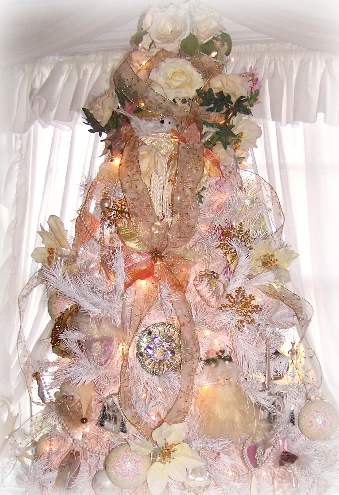 romantic shabby chic christmas tree